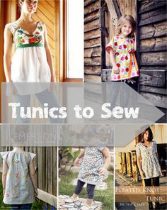 tunic tutorials - versatile, pretty, and styles for little girls and big girls too!