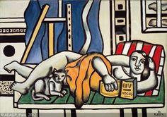 La femme au chat   Fernand Léger