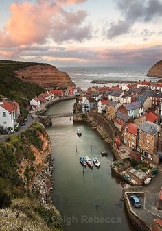 Staithes, North Yorkshire, UK.