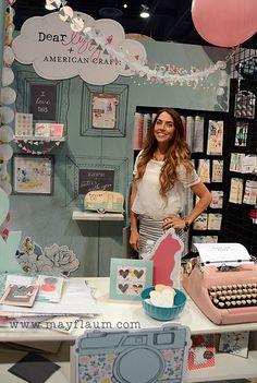 Dear Lizzy's new collection Polka Dot Party {CHA booth}