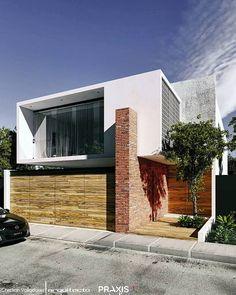 minimalism and architecture Modern Minimalist House, Minimalist Architecture, Modern Architecture House, Facade Architecture, Residential Architecture, Modern House Facades, Modern House Design, Facade Design, Exterior Design