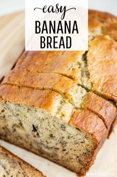 Click the link to find out how to make this delicious, filling & best banana bread recipe from scratch! This recipe has been in my family for years! Easy to make banana nut bread recipe. Super Moist Banana Bread, Sour Cream Banana Bread, Homemade Banana Bread, Easy Banana Bread, Chocolate Chip Banana Bread, Chocolate Chip Recipes, Brown Sugar Banana Bread, Coconut Flour Banana Bread, Cake Mix Banana Bread