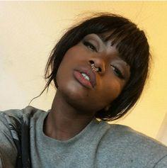 All Beautiful Black Girls Beauty Makeup, Hair Makeup, Hair Beauty, Girls Tumblrs, Dark Skin Girls, Dark Skin Beauty, Black Beauty, Brown Skin, Mode Style