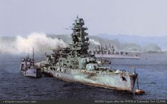 "IJN Battleship "" Nagato "" in 1946 after the Japanese Surrender."