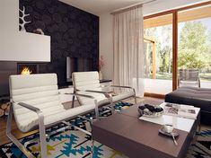 Projekt domu Niko 85,78 m2 - koszt budowy - EXTRADOM Conference Room, Sweet Home, Table, Furniture, Home Decor, Home Plans, Home, House, Homemade Home Decor