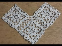Triangle Shawl Model Making, Patterned Triangle Shawl Example - Flores Crochet Motif Patterns, Crochet Borders, Crochet Diagram, Crochet Squares, Crochet Curtains, Crochet Doilies, Crochet Flowers, Crochet Collar, Crochet Blouse