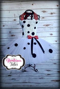 Dalmatian tutu dress Dalmatian Costume by GlamliciousTutus