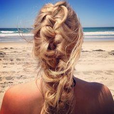 #hair #beach #beauty #Inspiration #style #braid