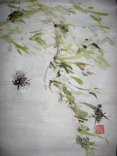 17 year brood now popping Ink & Color on Single Xuan Chinese Calligraphy, Chinese Medicine, Ink Color, Painting, Inspiration, Art, Biblical Inspiration, Art Background, Painting Art