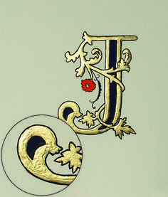 Illuminated Initial J | Just to show you that we do not realised an illuminated letter ...