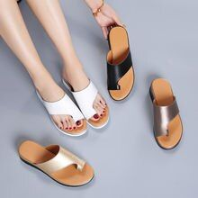 Online Shop LAASIMI Summer Women Slippers Outdoor Casual Holiday Sandals Women Hollowing Slip On Wedge Summer Shoes Female Slippers 2020 Summer Wedges, Summer Shoes, Comfy Shoes, Comfortable Shoes, Tailors Bunion, Orthopedic Sandals, Knock Knees, Bow Legged, Beautiful Sandals