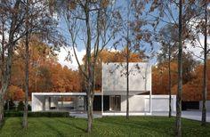 Zdjęcie numer 3 w galerii - Biały dom jednorodzinny pod Warszawą niczym modernistyczne pawilony
