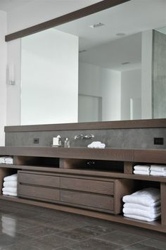 Minimal Clean Lines, Huge Mirror, Very Clean And Modern