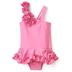 Juicy Couture Infant Girls' Rosette 1-piece Swimsuit ($23) ❤ liked on Polyvore featuring baby, girls, kids, baby things and kids clothes
