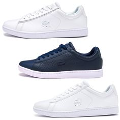 Lacoste Trainers #eBay Clothes, Shoes & Accessories Lacoste Trainers, Navy Blue, Blue And White, Converse, Louis Vuitton, Sneakers, Leather, Ebay, Accessories