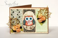 mru's life - scrapbooking, fotografia: Autumnly card with owl