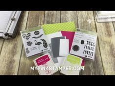 Stampin' Up! Pink & Silver Pineapple using Pop of Paradise! - Episode 577