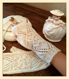 Knitting Pattern for Heart of Mine Fingerless Mitts - #ad Stunning lace mitts.  Instructions are included to knit in the round or flat. tba wedding