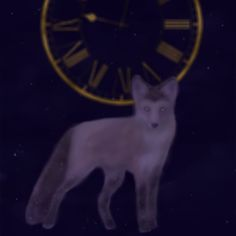 Fantasy #draw #digital painting #time #galaxy #fox