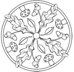 Mandala Tardor Coloring Page - Free Coloring Pages Online