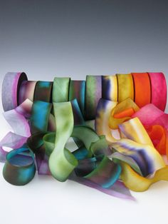 A Hanah Hand Dyed Silk Ribbon CollectionHand Dyed by mermaidsbeads