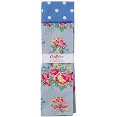 【Cath Kidston】キャスキッドソン ティータオル 2枚セットTexturedRose/BlueSpot TeaTowel - イギリス雑貨と紅茶とハーブティーのお店 English Specialities