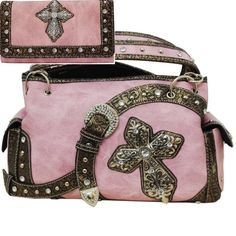 Concealed Carry Gun Purse Western Rhinestone Cross & Buckle Handbag (PINK) BNB,http://www.amazon.com/dp/B00K9PYGRY/ref=cm_sw_r_pi_dp_gd-Btb0G7KCDHCEJ