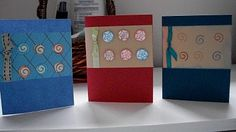 Cards, simple, stamp, ribbon, pop dots
