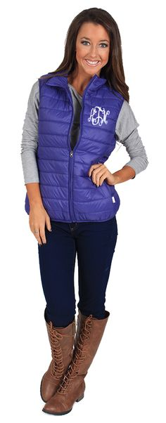 Monogrammed Lightweight Puffer Vest