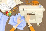 Pflege der Nähmaschine