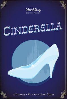 Cinderella Movie Poster, via Minimalist Movie Posters