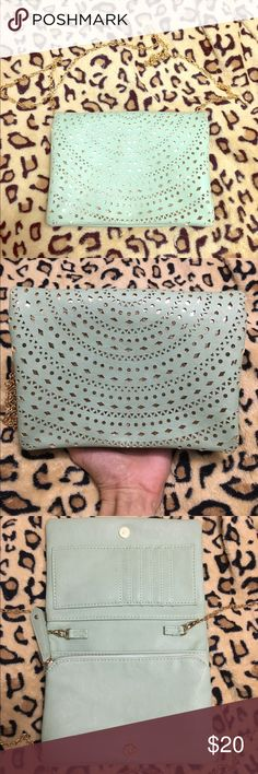 Mint&Gold crossbody purse NEW WITHOUT TAGS! From Francesca's. Mint & Gold crossbody purse. It's the perfect size! No flaws! Francesca's Collections Bags Crossbody Bags