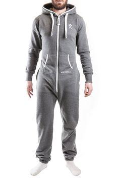 ▪️ CHARCOAL ONESIE ▪️ Mens Onesie, Kangaroo Pouch, Athletic Men, Gray Jacket, Female Models, Hooded Jacket, Charcoal, Onesies, Unisex