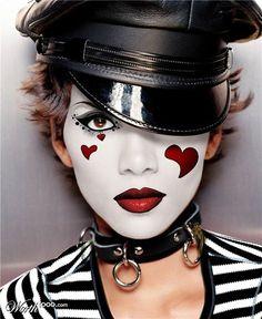 99 Trend Sample of Mime MakeUp Ideas - Creative Maxx Ideas Mime Makeup, Costume Makeup, Makeup Art, Halloween Face Makeup, Halloween Make Up, Halloween Costumes, Circus Makeup, Art Visage, Dark Circus