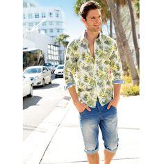 Pure Cotton Long-Sleeved Hawaiian Print Shirt R jeans | La Redoute
