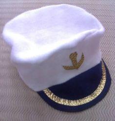 Gorra Accesorio Disfraz Capitán O Marinero De Cotillon -   25 4d3259495a6