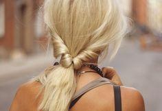 Bleach blonde twist
