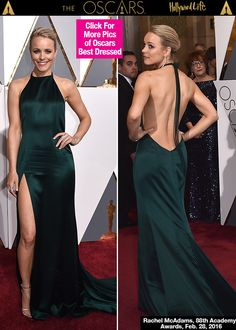 Rachel McAdams looked absolutely stunning on the red carpet at the 88th annual Academy Awards on Feb. 28! The 'Best Supporting Actress' nominee showed off her fabulous figure in an elegant emerald green halter gown that completely stole the show. Did you love her look as much as we did? VOTE!