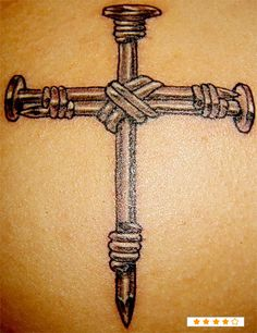 Cross made out of nails and rope Mom Tattoos, Tattoos For Women, Tatoos, Female Tattoos, Nail Tattoo, Tattoo You, Cross Nails, Celtic Cross Tattoos, Skin Candy