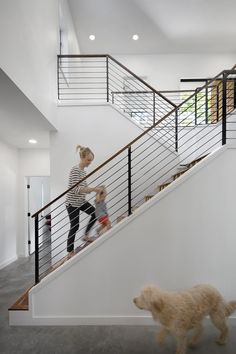 modern stair railing Staircase Contemporary with banister cable rail entry foyer. modern stair railing Staircase Contemporary with banister cable rail entry foyer minimal minimalist Cable Stair Railing, Modern Stair Railing, Stair Railing Design, Staircase Railings, Banisters, Stairways, Metal Railings, Staircase Ideas, Interior Railings