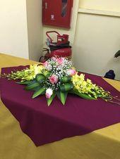 ~ Pin by Melinda ZA on Flower Arrangements Tropical Floral Arrangements, Large Flower Arrangements, Flower Arrangement Designs, Funeral Flower Arrangements, Funeral Flowers, Floral Centerpieces, Deco Floral, Table Flowers, Flower Decorations