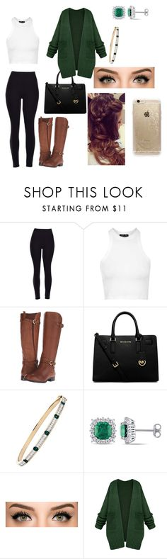 """""""Untitled #12"""" by ermiraadili on Polyvore featuring Topshop, Naturalizer, MICHAEL Michael Kors, Miadora, Rifle Paper Co, women's clothing, women's fashion, women, female and woman"""
