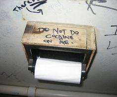"""do not do cocaine on me"""