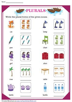 Write the Plural forms of Nouns Plural Form Of Nouns, Singular And Plural Words, Plural Nouns Worksheet, Plurals Worksheets, Reading Comprehension Worksheets, English Grammar For Kids, Teaching English Grammar, English Worksheets For Kids, English Lessons For Kids
