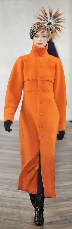 Ralph Lauren. Coat's rockin'; hat... meh. Needs a nice, full dk brown fox toque or trooper.
