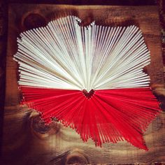 Country String Art - Poland (flag) - home decor - wall hanging Diy For Kids, Crafts For Kids, Poland Flag, Gold Wood, Handmade Home Decor, Custom Wood, String Art, Personalized Gifts, Diy And Crafts