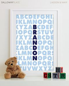 Baby Boy Art Boy Nursery Art Wall Decor Subway Art Baby Boy Nursery Rules Playroom Rules Sign Family Rules Quote