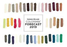 Pantone has already shared their 2019 home+interiors forecast. Now let's add Colormix 2019 from Sherwin-Williams to the 2019 mix. Color Trends, Design Trends, Color Card, Shopping Sites, Easy Diy Projects, Colorful Interiors, Pantone, Decorating Tips, Color Mixing