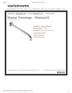 Titanium shower arm