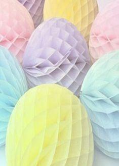 Pastel paper pompoms.